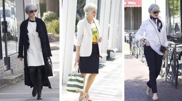 60岁网红时尚奶奶:谁说有少女感的女人才美