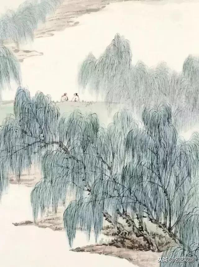 八位名家画笔下的杨柳依依,随风飘舞,美极啦!