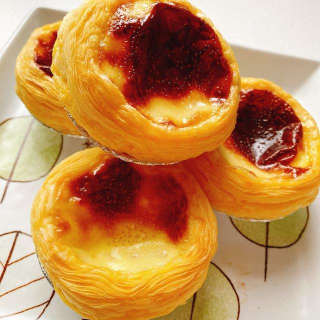 【原味蛋挞】的做法+配方,口感松软,奶香味浓郁,甜而不腻