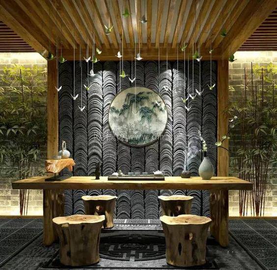 硅藻泥茶室图片欣赏