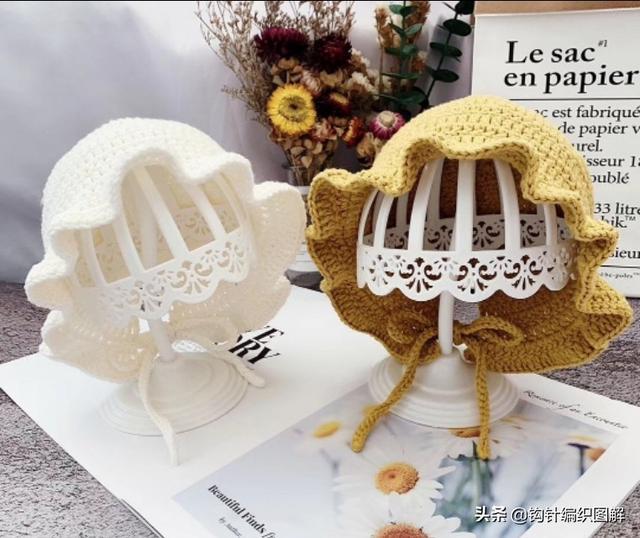 花边宝宝帽的钩法