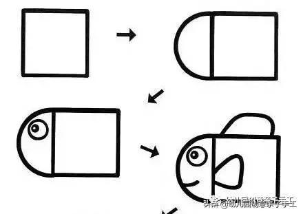 教你用一个正方形就能画简笔画,你不信?反正我信了
