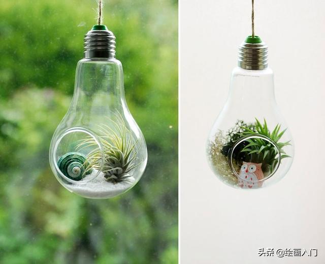 艺术家的灯泡DIY,美丽又实用:给你提供20个手工创意的灵感