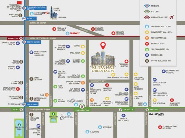 「曼谷转售」Supalai Oriental 39+Regent Home Bangson 2