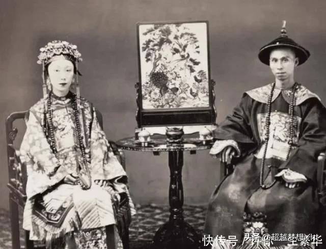 晚清大臣娶媳妇的照片,妻妾成群,新娘子都超美,秒杀现代网红