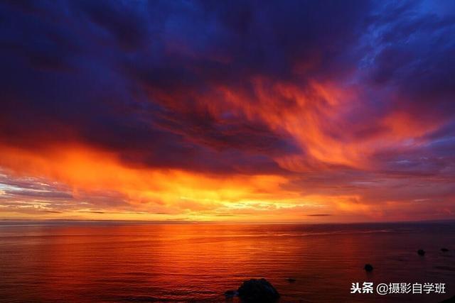 晚霞落日唯美风景图片