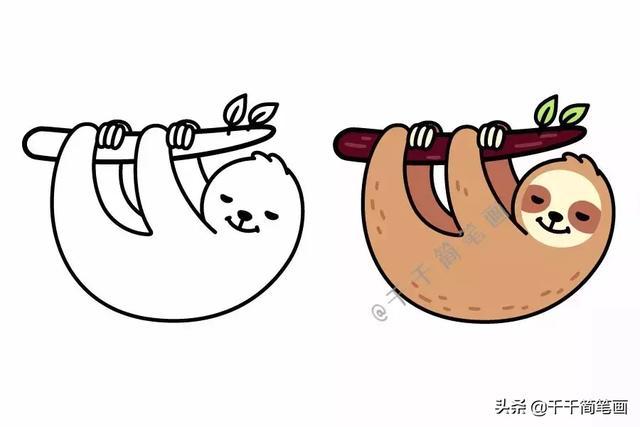 小动物简笔画彩色全图