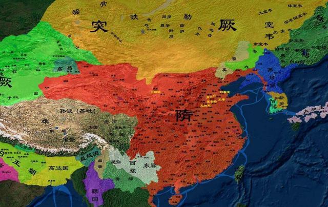 中国清朝时的全国地图