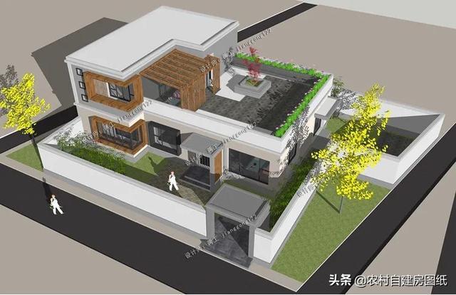 5款二层农村别墅,现代风时尚又大气,网友:真不像农村