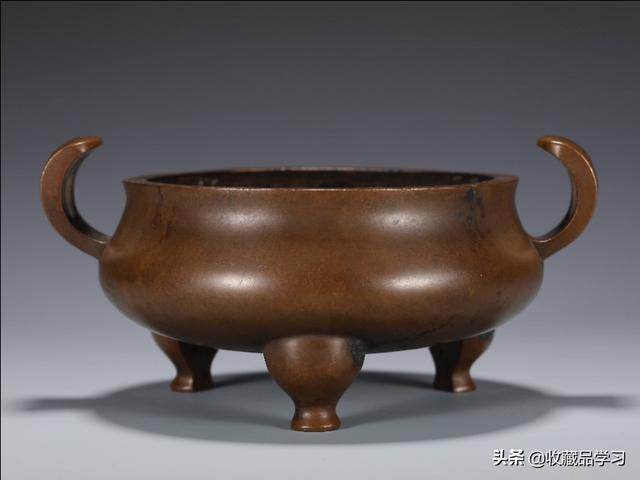 岁次,清中期铜官帽耳三足炉(《大明正德八年岁次癸酉五月吉日铸造》