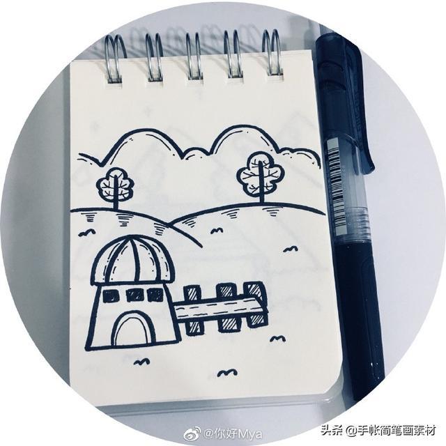 简笔画   一波各种风格、超可爱的小房子,简单好画,一学就会!
