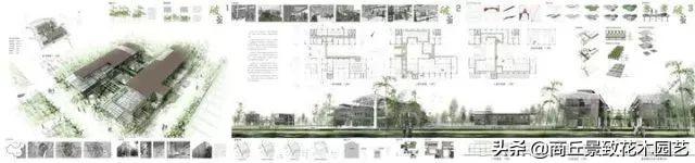 室外园林景观PSD分析图符号素材景观建筑城市旅游规划设计