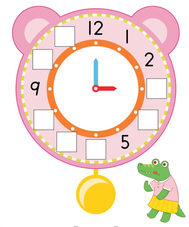 二年级认识钟表图片