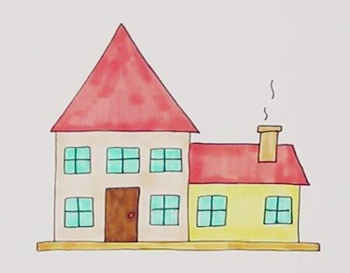 简笔画 你们是不是都想住在童话般的小房子里呀?给自己画一个