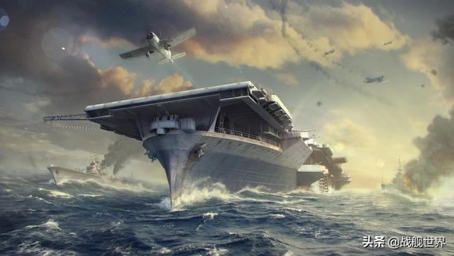 战舰世界 美系金币8级航母企业号 战机视角