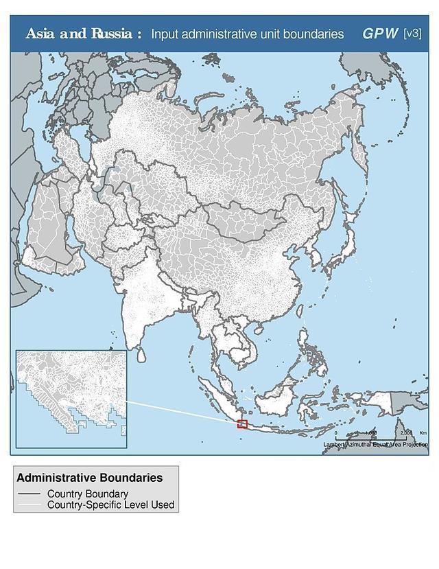 世界地图 - 世界各国的详细地图