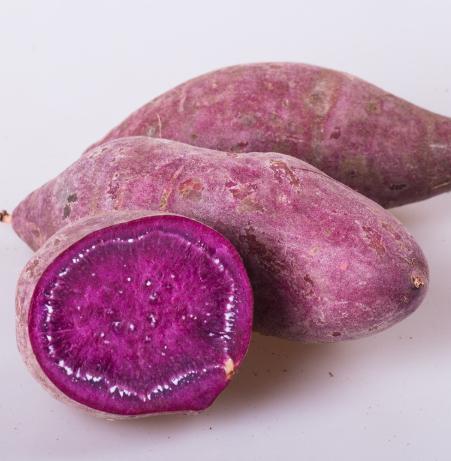 紫薯煮熟后中间黄黄的