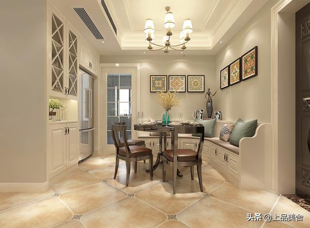 132平经典耐看的美式风,超好看的主卧室,一长排衣柜整体又实用