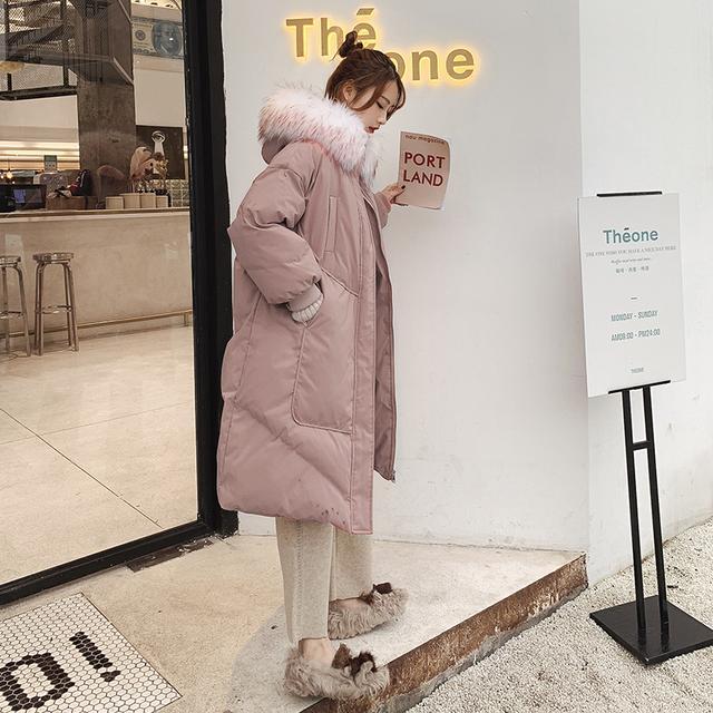 厚实温暖的中长款棉服,怕冷的女生冬季必备哦!