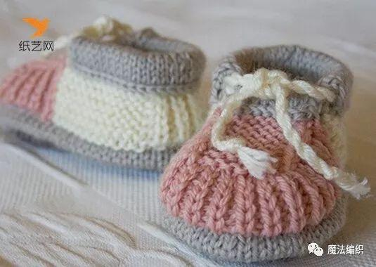婴儿毛线鞋织法图解