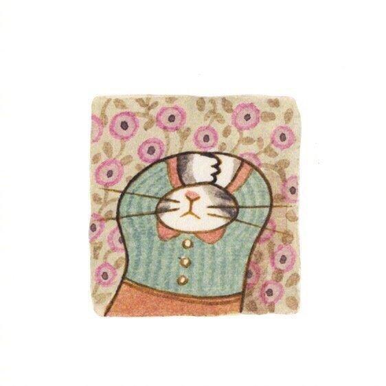 画师Eunyoung Seo 笔下的喵星人小头像,好可爱 乖乖的小猫咪-第3张图片-深圳宠物猫咪领养送养中心