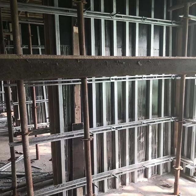 墙体模板支撑-钢背楞体系
