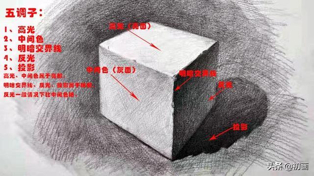 静物素描三大面五大调
