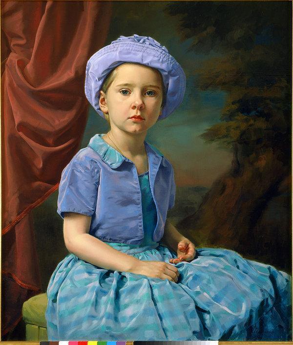 图二宝宝好可爱!一组儿童肖像油画