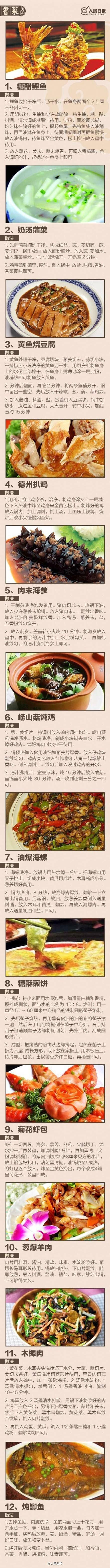 八大菜系,100道菜做法