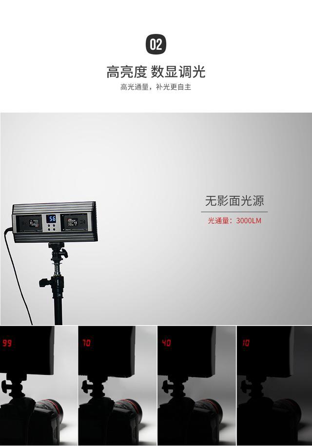 led摄影灯打光灯PT-30B摄像演播室相机补光灯影视拍照婚庆常亮灯