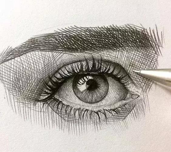 简单画画漂亮的眼睛