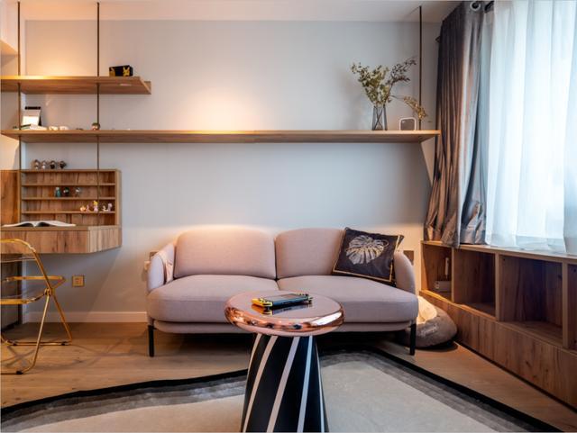 64㎡现代简约,温情舒适小公寓,浪漫精致的生活