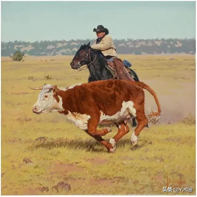 比尔·欧文美国西部牛仔画家Bill Owen American