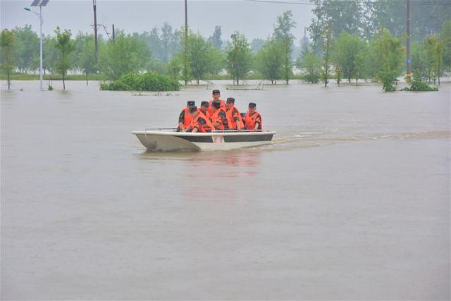 战胜洪水后,他们的身影又出现在稻田……