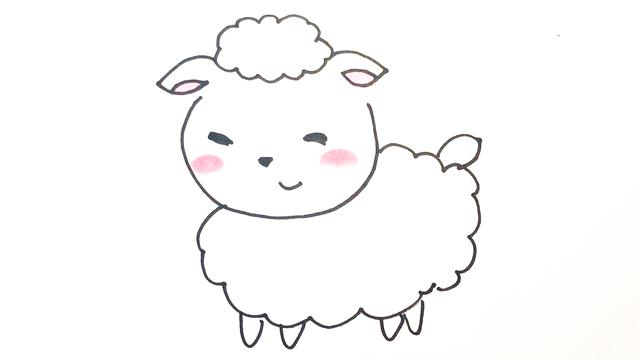 山羊怎么画简笔画小羊