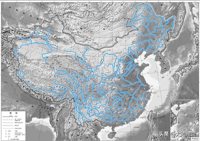 中国山脉河流地图 中国十大山脉河流 - 豆丁网