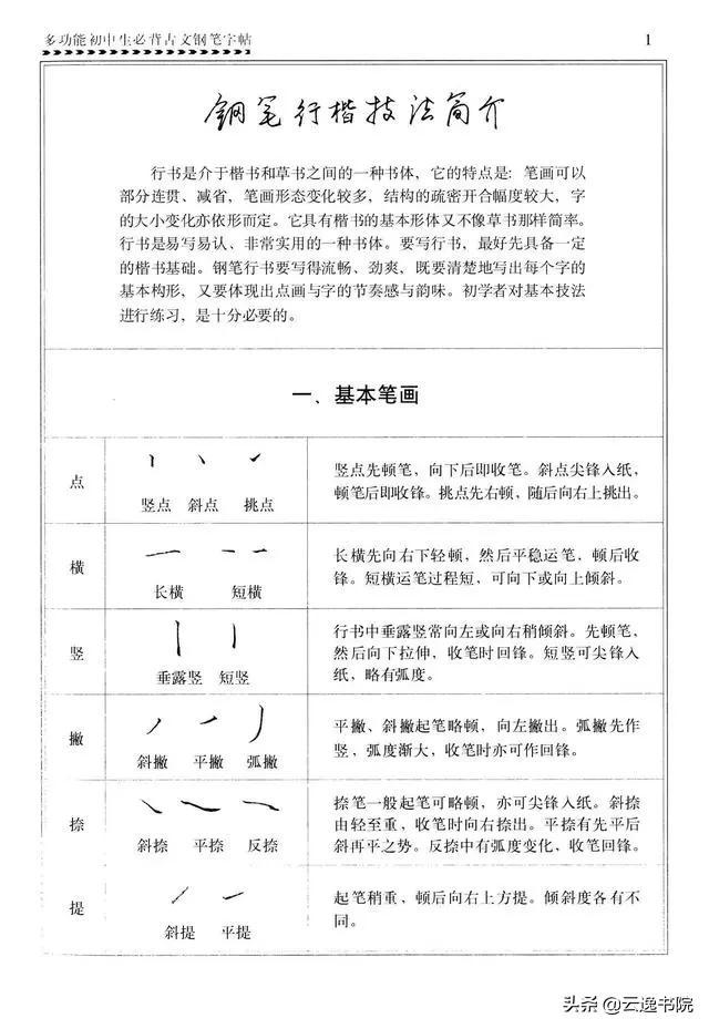 行楷600个常用字硬笔字帖