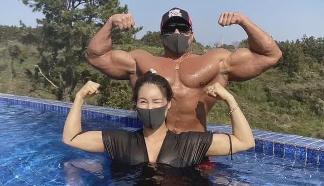 肌肉野獸黃世勛升級人父,曬出孕妻曬健身照,太硬核了