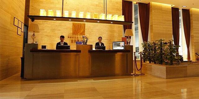 酒店前台图片