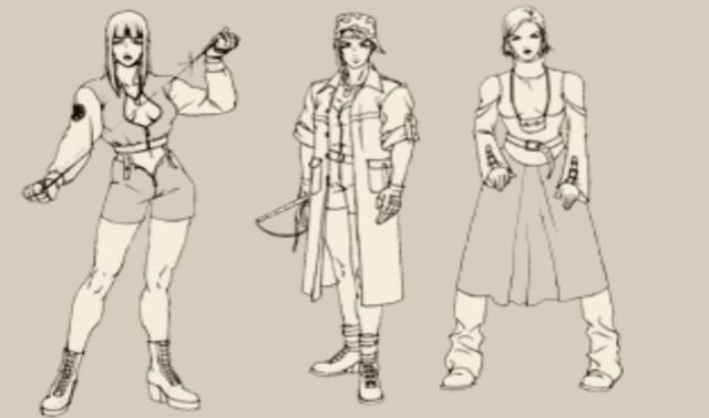 SNK经典格斗游戏薇普的最初人设图,原来我们的女王经过千挑万选