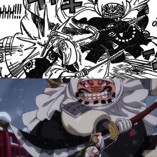 海賊王933集漫畫和動畫對比,前者張力十足,後者細節感人