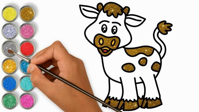 牛的简笔画卡通可爱