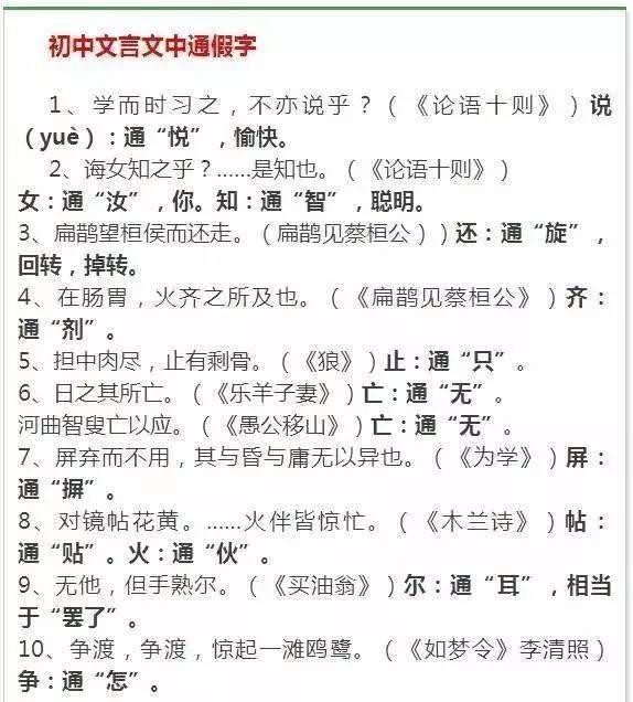 """中学文言文大全,初中语文50个""""文言文""""解析"""