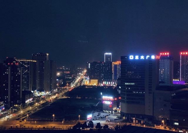 合肥翡翠湖夜景