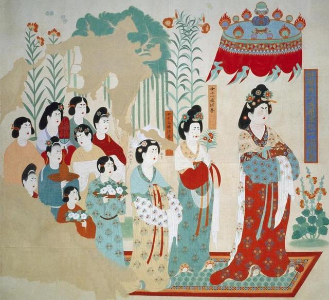 存世唐代美女画像精品高清大图荟萃,最可靠的汉服、唐妆资料