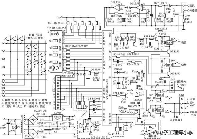 格兰仕微波炉电路图