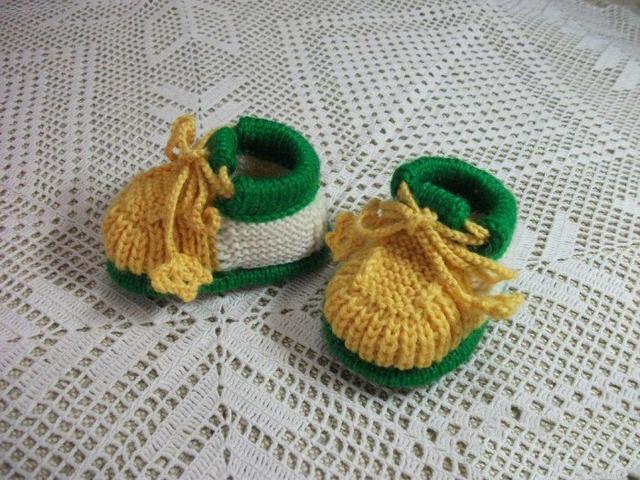 宝宝毛线鞋编织
