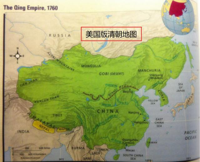 清朝时中国地图大全