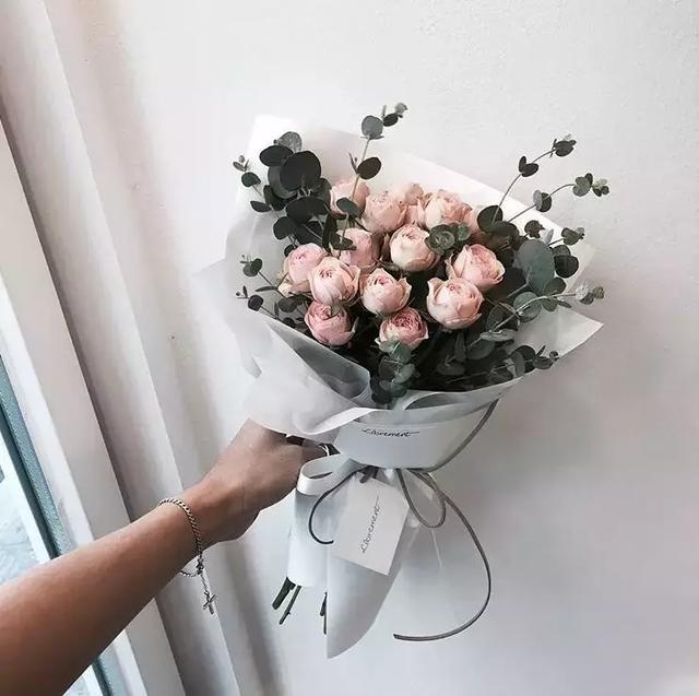 干花花束摆件图片