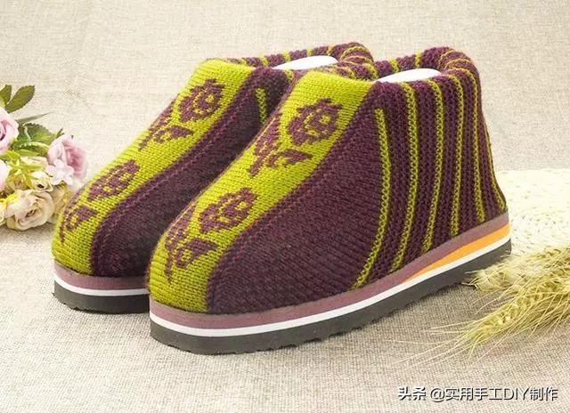 玉儿纺-手工编织毛线鞋文字图案大全,中间织花样... - 哔哩哔哩